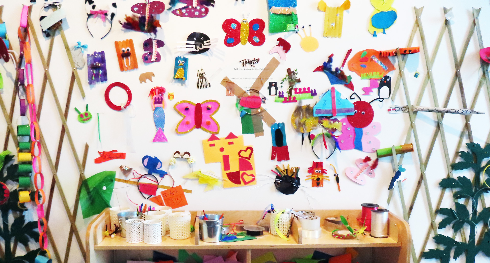 Wall Art created by children
