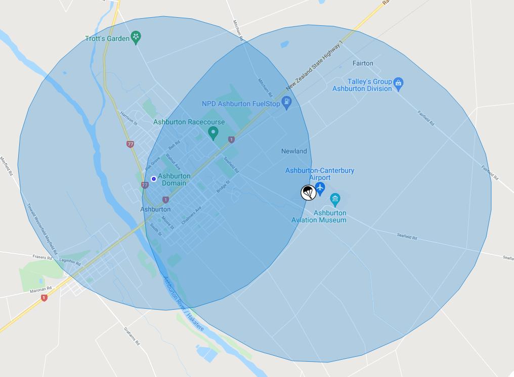 4km radius