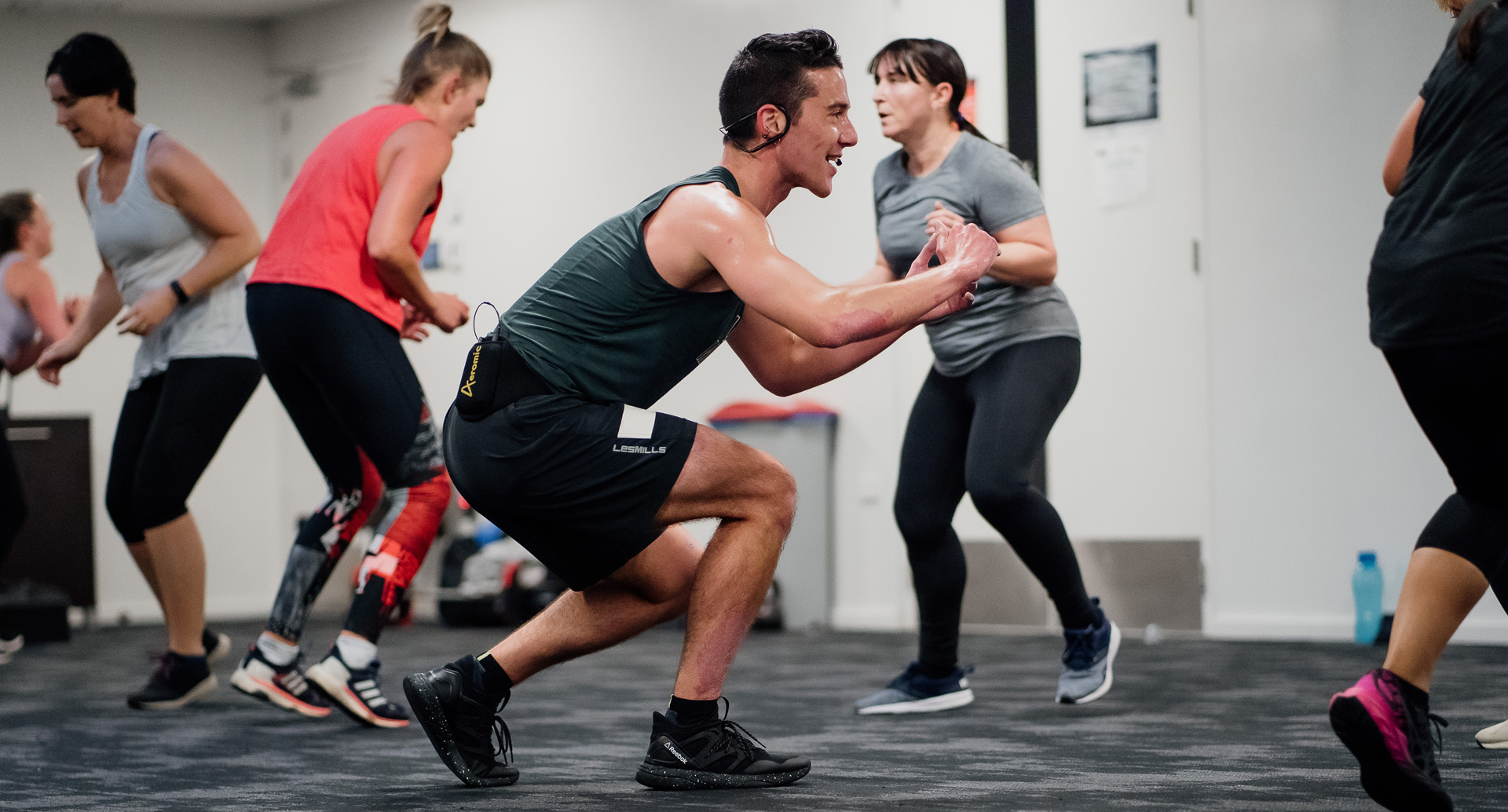 Group Fitness Instructor with class